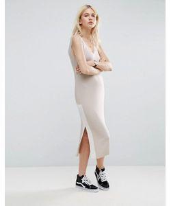 Asos | Платье В Рубчик Без Рукавов В Стиле Колор Блок
