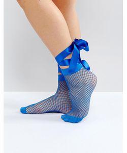 Asos   Сетчатые Носки С Завязкой На Бант