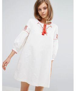 Vanessa Bruno Athe' | Парусиновое Платье С Вышивкой Vanessa Bruno Athe