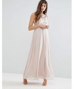 boohoo | Платье Макси С Декоративной Отделкой На Лифе