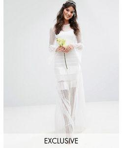 Body Frock | Плиссированное Свадебное Платье Макси С Расклешенными Манжетами Bodyfrock