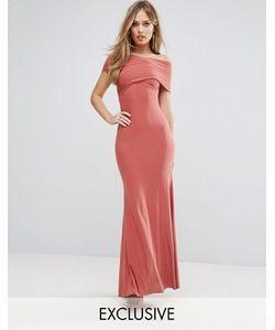 Club L | Платье Макси С Открытыми Плечами И Юбкой-Годе