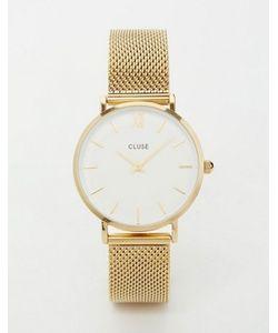 Cluse | Часы С Золотистым Сетчатым Браслетом Minuit Cl30010