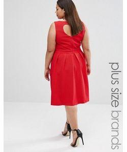 Lovedrobe | Короткое Приталенное Платье С Вырезом Сердечком Сзади Plus