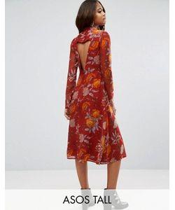 ASOS TALL | Платье Миди С Принтом Роз