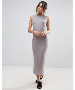 Unique 21 | Облегающее Платье Миди В Рубчик