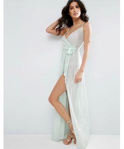 Asos | Пляжное Платье Макси С Запахом