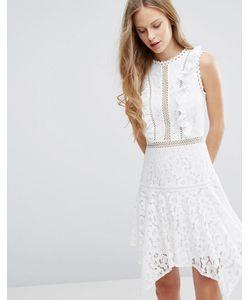 Miss Selfridge | Кружевное Платье С Асимметричным Нижним Краем