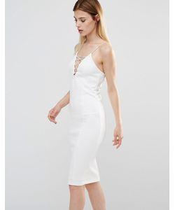 AX Paris | Платье Миди Со Шнуровкой Спереди