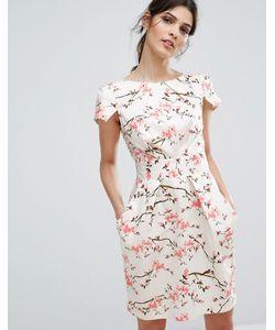 Closet London | Платье Мини С Короткими Рукавами И Цветочным Принтом