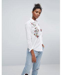 Only | Рубашка С Вышивкой На Груди