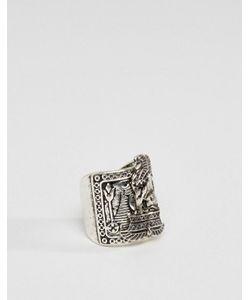 Asos | Шлифованное Серебряное Кольцо В Египетском Стиле
