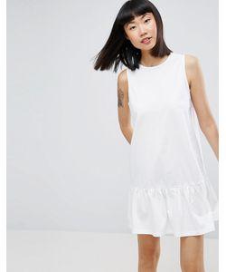 Asos | Свободное Платье Мини Без Рукавов С Оборкой По Краю