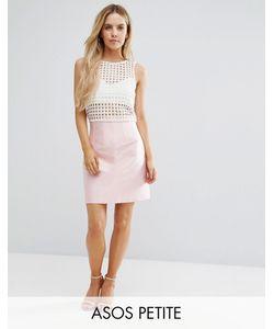 ASOS PETITE | Premium Structu Satin Skirt With Corset Detail