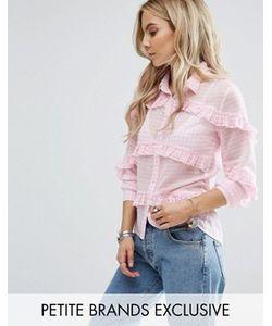 Glamorous Petite | Блузка В Клеточку С Оборками