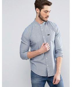 Lee | Синяя Рубашка В Рабочем Стиле С Воротником-Стойкой