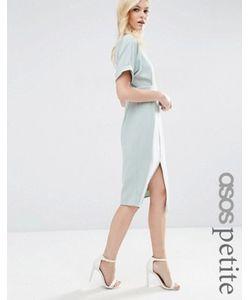 ASOS PETITE | Строгое Тканое Платье С V-Образным Вырезом На Спине И Разрезом