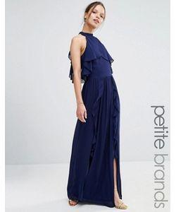TFNC Petite | Платье Макси С Высокой Горловиной И Оборками Wedding