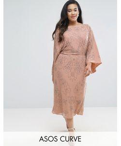 ASOS CURVE | Платье Миди С Отделкой Wedding