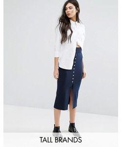 Vero Moda Tall | Юбка Миди На Пуговицах Спереди