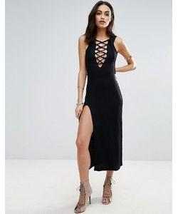 Jovonna | Платье-Комбинация Со Шнуровкой Спереди