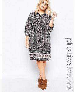 Diya | Платье-Рубашка С Принтом Plus