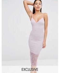 MISSGUIDED | Платье Миди С Кружевной Кромкой