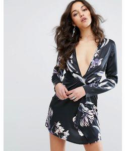 MISSGUIDED | Платье С Запахом И Цветочным Принтом