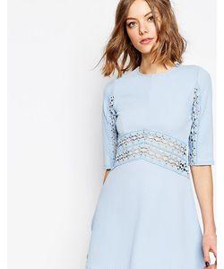 ASOS PETITE | Приталенное Платье С Кружевной Вставкой