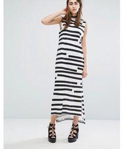 Cheap Monday | Платье Макси В Полоску С Асимметричным Подолом