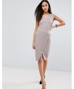 Asos | Фактурное Платье С V-Образным Вырезом