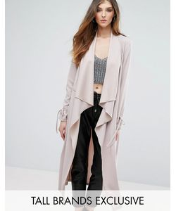 Missguided Tall | Lace Up Sleeve Duster Coat