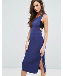 BCBGMAXAZRIA | Облегающее Платье В Спортивном Стиле С Глубоким Вырезом Пройм Рукавов Bcbg