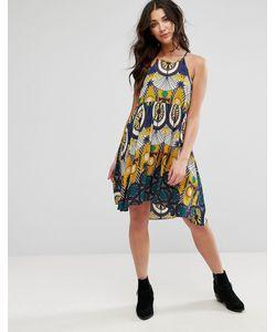 Brave Soul   Цельнокройное Платье Без Рукавов С Принтом