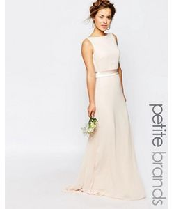 TFNC Petite | Сатиновое Платье Макси С Бантом Сзади Wedding