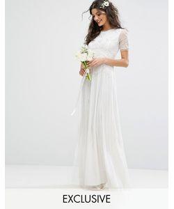 Amelia Rose | Bridal Maxi Dress With Vintage Embellishment