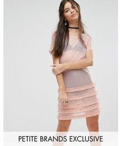 Glamorous Petite | Платье С Оборкой По Краю