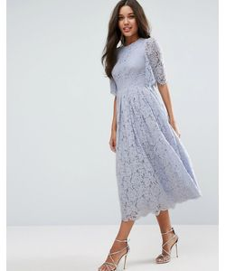 Asos | Кружевное Платье Для Выпускного С Рукавами Клеш
