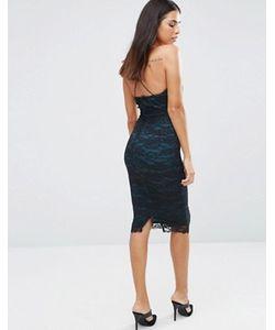 AX Paris   Кружевное Платье Миди