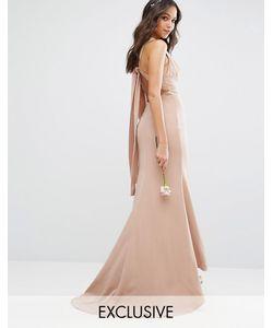 JARLO | Платье Макси С Высокой Горловиной И Открытой Спиной