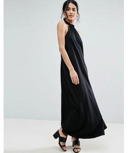 Asos | Свободное Платье Макси С Халтером