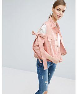 Asos | Куртка С Вырезами На Плечах И Бантами
