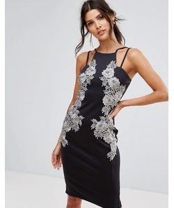 AX Paris | Платье Миди С Кружевной Отделкой Спереди