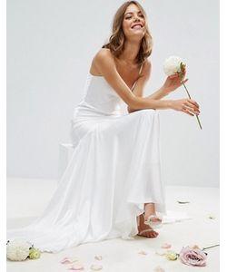 Asos | Платье Макси На Тонких Бретельках Со Вставками И Годе Bridal