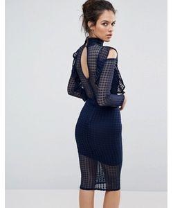 TFNC | Кружевное Облегающее Платье С Рукавами Клеш И Оборкой