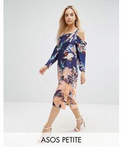 ASOS PETITE | Платье С Открытыми Плечами И Цветочным Принтом