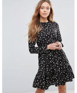 Yumi   Чайное Платье С Длинными Рукавами