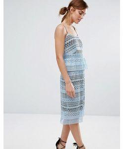 Little White Lies | Howie Lace Peplum Dress
