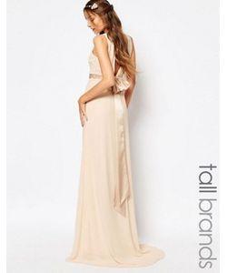 TFNC Tall | Атласное Платье Макси С Бантом На Спине Wedding