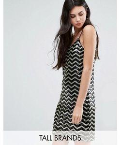 Vero Moda Tall | Платье Мини С Зигзагообразным Узором И Пайетками